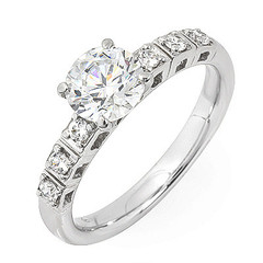 Diamond Engagement Ring with Side Stone Gallery